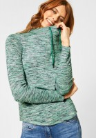 CECIL - Shirt im Multicolour-Look in Clover Green Heather