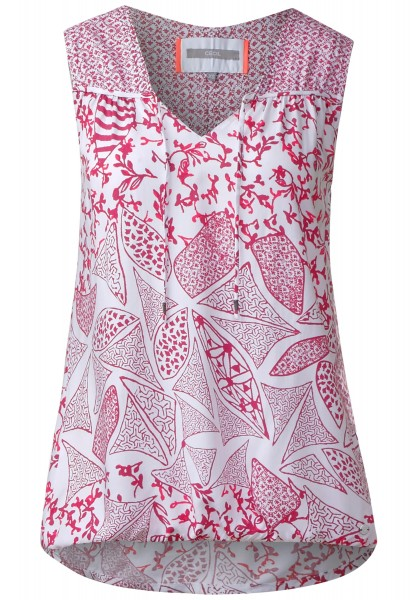 CECIL - Mustermix Print Bluse in Deep Pink