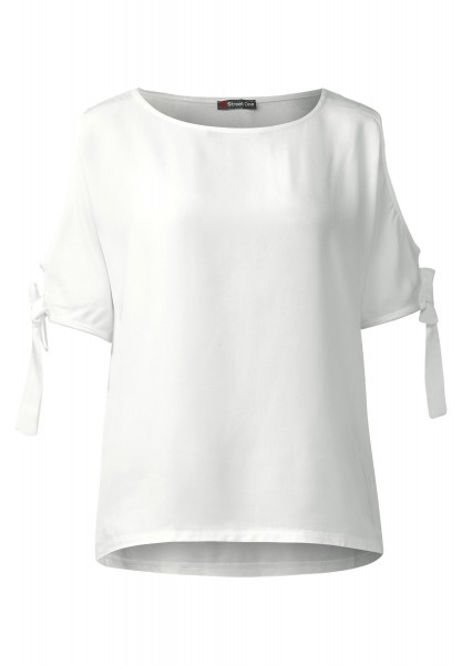 Street One - Shirt mit Schulter Cut-Outs in Off White