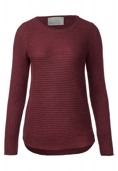 CECIL - Strickpullover Ruby Maroon Red