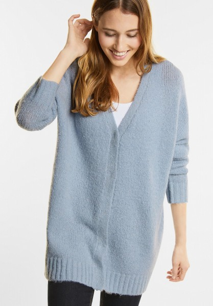 Street One - Kuschel Cardigan mit Mohair in Ice Blue