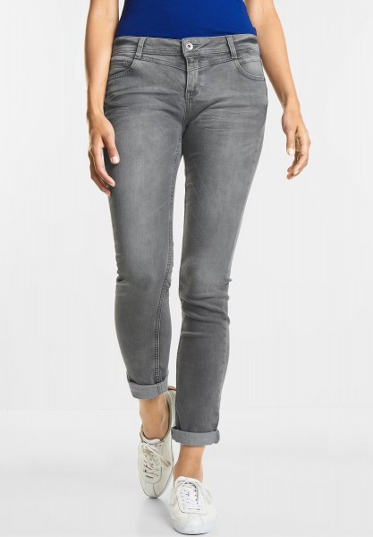 Street One - Graue Denim Jane in Grey Random Bleach