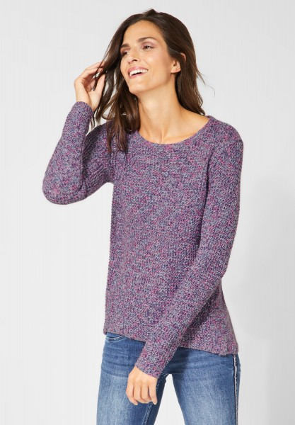 CECIL - Mouline Pullover in Neon Active Pink