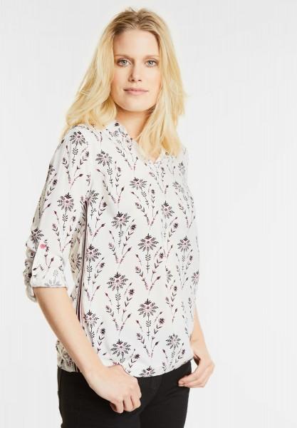 CECIL - Sportive Blütenprint Bluse in Pure Off White