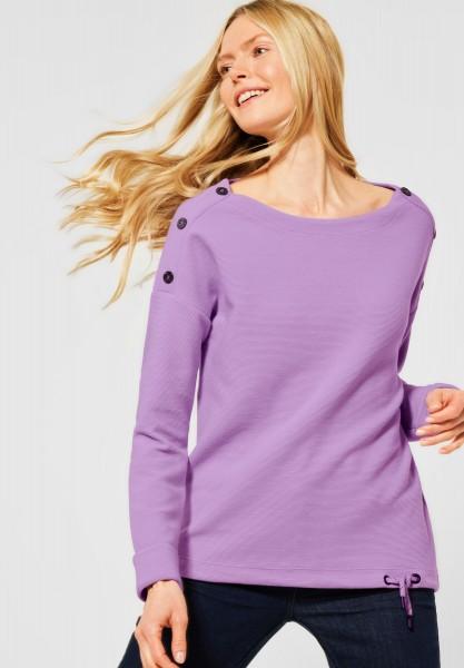 CECIL - Shirt mit Ottoman-Struktur in Soft Violet