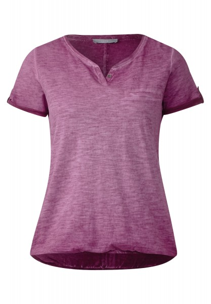 CECIL - Washed Look T-Shirt Anni in Deep Pink