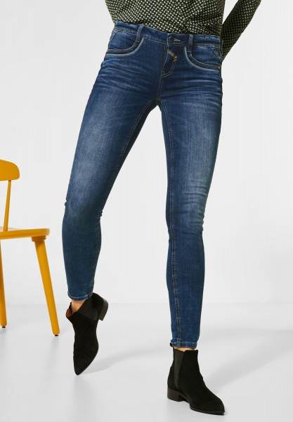 Street One - Sportive Slim Fit Denim in Authentic Blue Washed