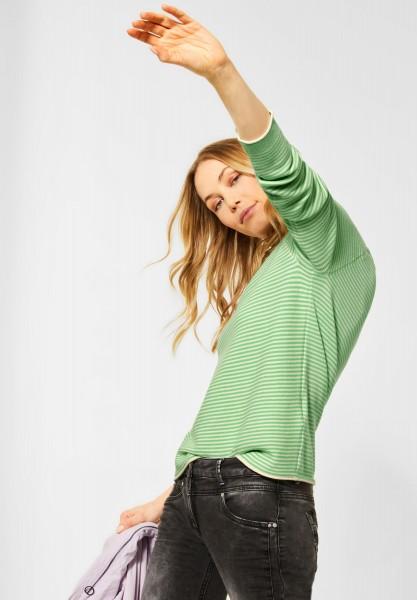 CECIL - Pullover mit Streifen in Neon Bud Green