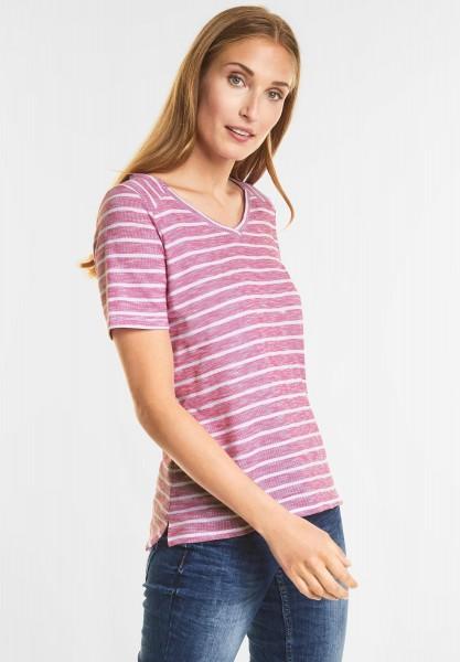CECIL - Lässiges Streifen Shirt in Galaxy Pink