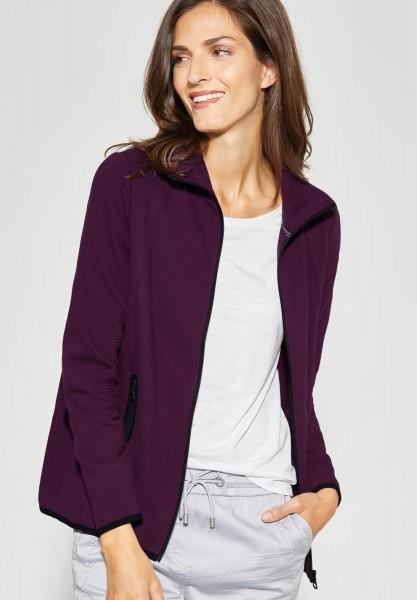 CECIL - Weiche Sweatshirt Jacke in Deep Berry