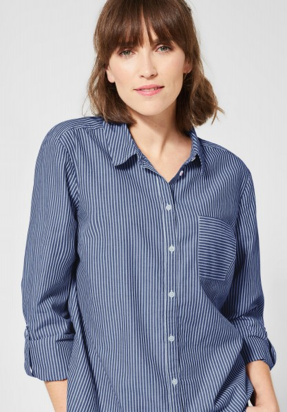 CECIL - Gestreifte Hemd-Bluse in Blouse Blue