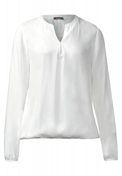 Street One - Bluse mit Gummibund Idwina Off White