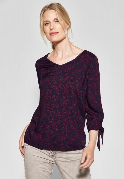 CECIL - Bluse mit Blumenprint in Mystic Berry
