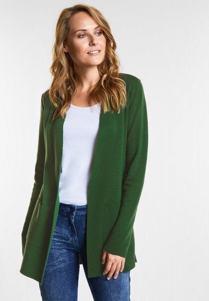 CECIL Weicher Long-Cardigan in Fresh Meadow Green
