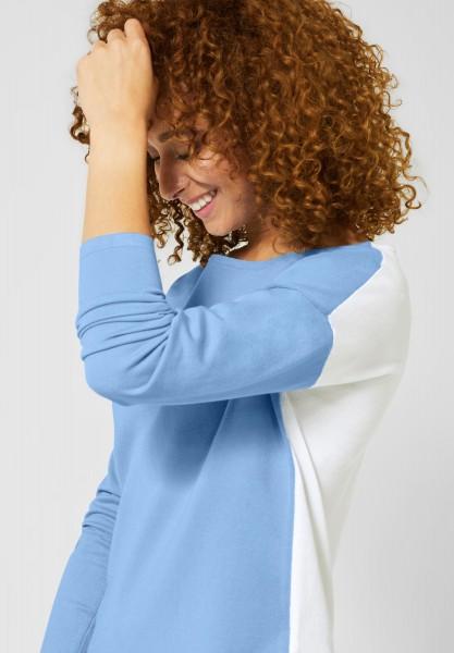 Street One - Shirt Gerdi mit Colourblock in Classy Blue
