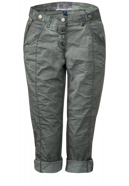 CECIL - Oil Wash 3/4-Hose New York in Palm Green
