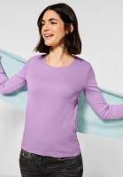 CECIL - Basic Langarmshirt in Soft Violet