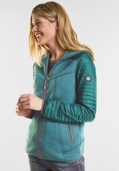 CECIL - Materialmix Jacke in Lake Green