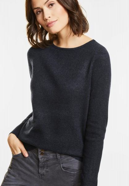 Street One - Feinstrick Pullover Marie in Night Blue Melange