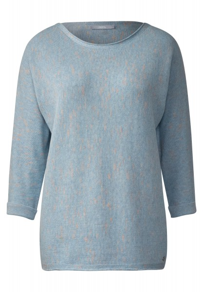 CECIL - Pullover mit Neonkick in Sky Blue Melange