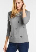 Street One Samtweiches Shirt Jale in Moon Grey Melange