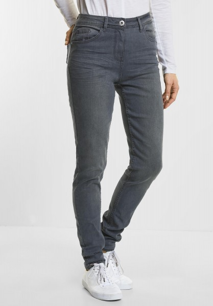 CECIL Tight Fit Denim Toronto in Grey Used Wash