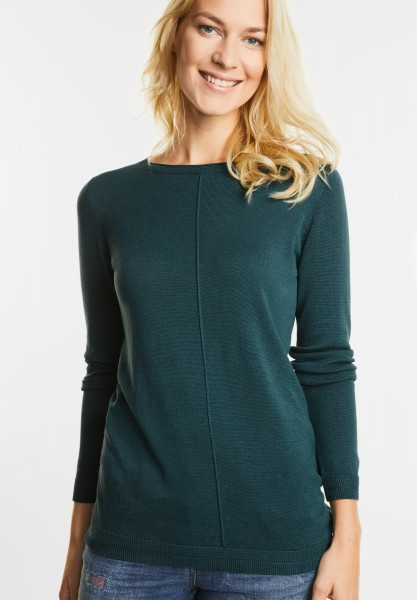 CECIL - Basic Pullover Elina in Emerald Green