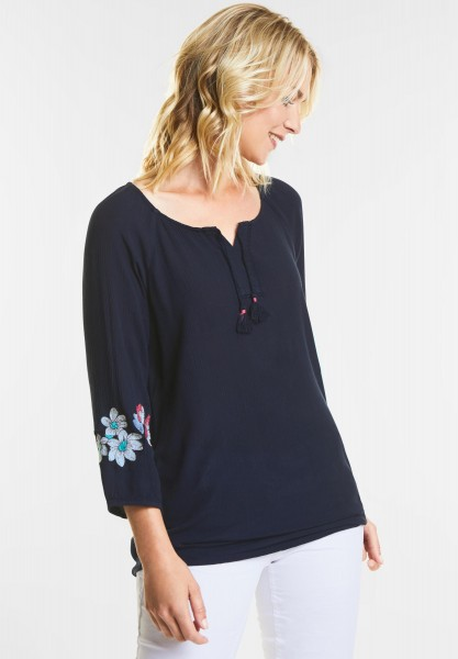 CECIL - Romantische Bluse in Deep Blue