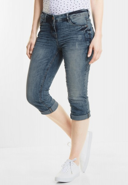 CECIL - Verkürzte Denim Scarlett in Light Blue Used Wash