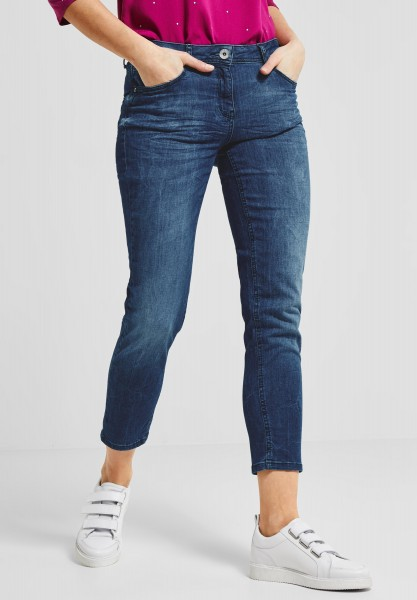 CECIL - Tight Fit Denim Toronto in Light Blue Used Wash