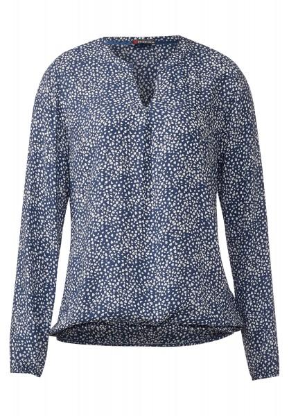 Street One - Bluse mit Gummizug Idwina Delta Blue