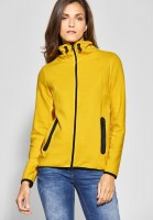 CECIL - Weiche Sweatshirt Jacke in Ceylon Yellow