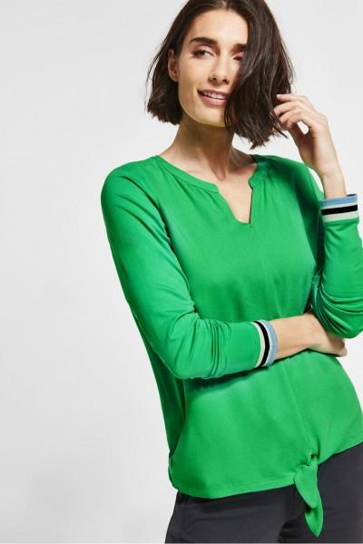Street One - Shirt mit Knoten Pamina in Spring Green