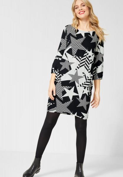 Street One - Kleid mit Sternenmotiv in Black