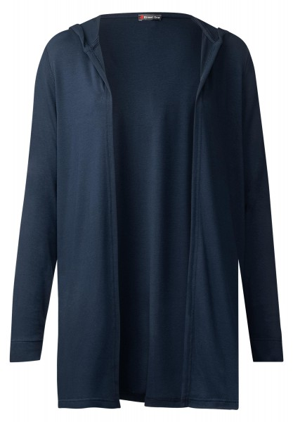 Street One - Lange Hoody Shirtjacke Mila in Night Blue