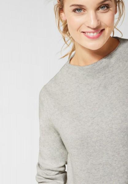 CECIL - Pullover in Unifarben in Off White Melange