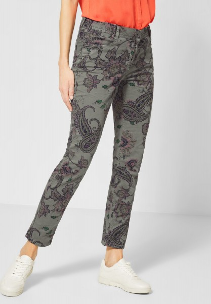 CECIL - Hose mit Paisleymuster in Simply Khaki