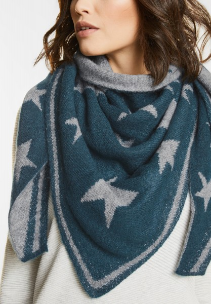 Street One - Sterne Stricktuch Milena in Pacific Blue