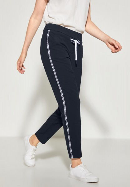 CECIL - Casual Fit Hose Tracey in Deep Blue