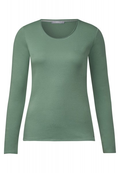 CECIL - Basic Langarmshirt Pia Loden Frost Green