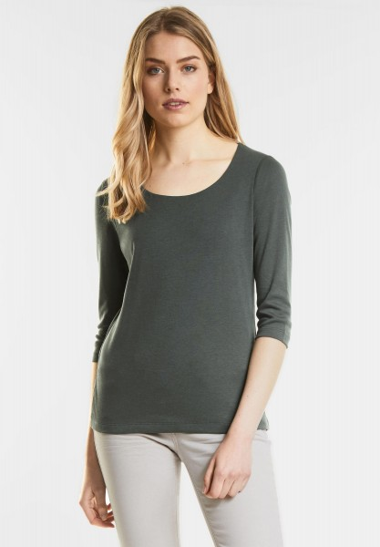 Street One - Schmales Basic Shirt Pania in Chilled Green