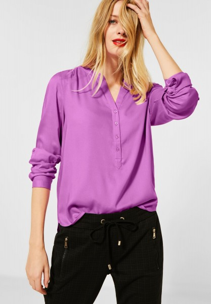 Street One - Bluse im Basic Style in Sweet Lilac