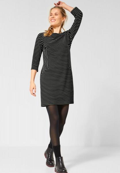 CECIL - Gestreiftes Kleid in Black reduziert im Sale