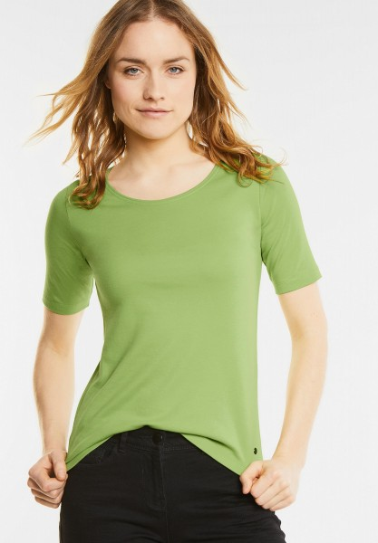 CECIL - Basic Halbarmshirt Lena in Juicy Green