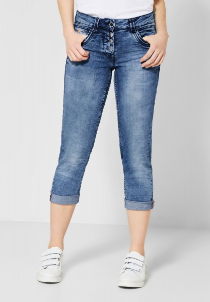 CECIL - Loose Fit Denim Scarlett in Mid Blue Wash