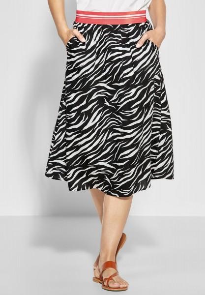 Street One - Zebra-Print Rock Lou in Black