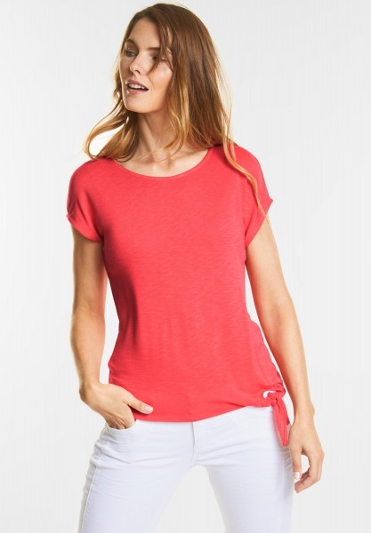 Street One - Basic Shirt Femke in Hibiscus Red