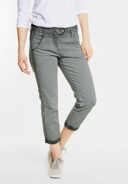 CECIL - 7/8-Crinkle Hose New York in Palm Green