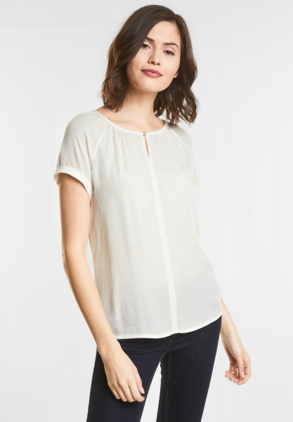 Street One Mat-Mix Carmen Shirt in Off White