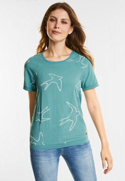CECIL Sportive Shirtbluse in Gingermint Green